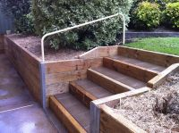 Popular Landscaping for Landscape Timber Bench and porous ...