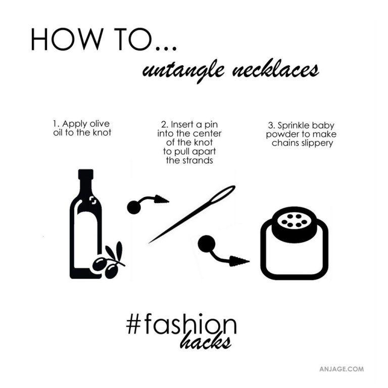 Untangle necklaces. #untangle #necklace #fashionhacks #