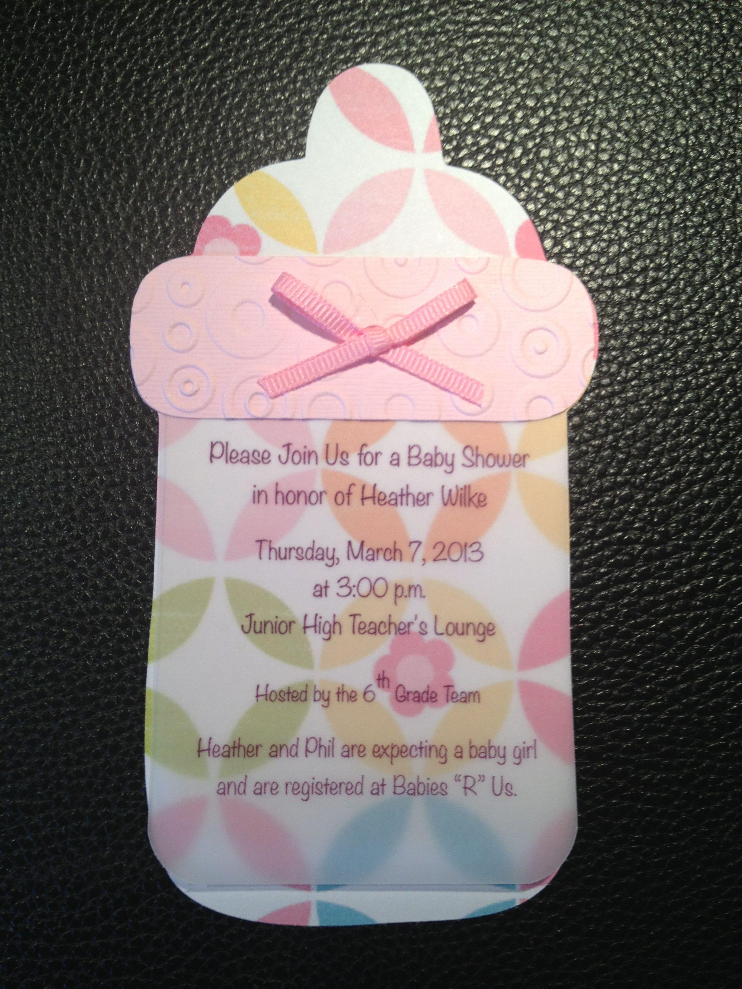 Baby Shower Invitations Cricut