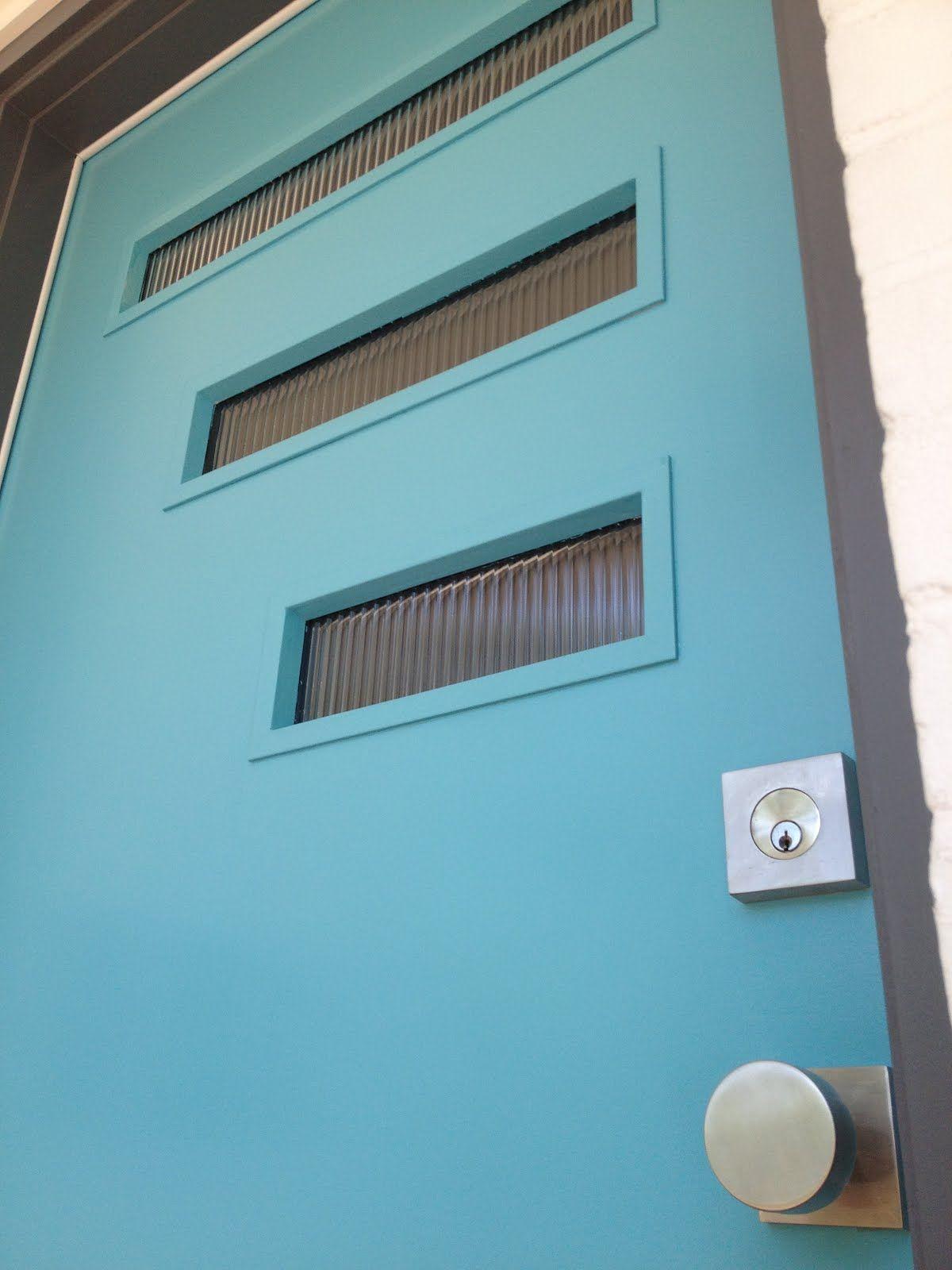 mid century modern front door handle