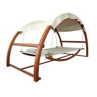 Leisure Season Patio Swing Bed with Canopy | Hammock swing ...