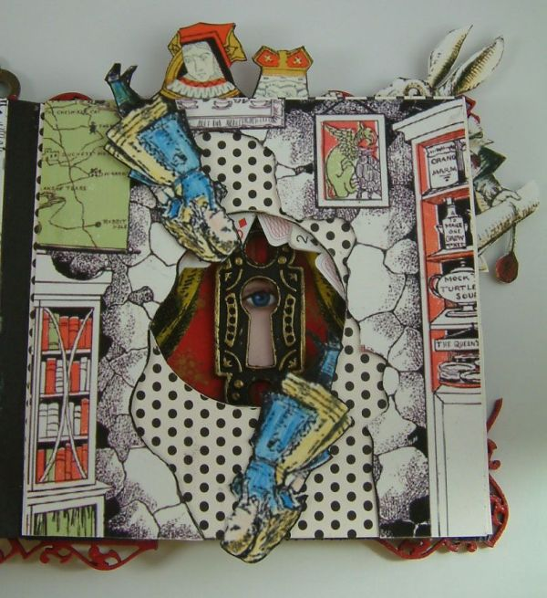 Artfully Musing Alice In Wonderland Tunnel Book Arts And Crafts Miscellaneous