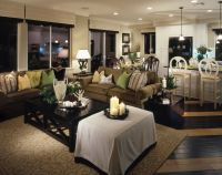 lighting. Small home open concept living space with ...