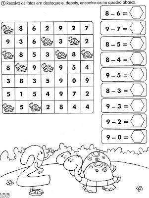Nosso Espaço Educando: Atividades de matemática para o 1º