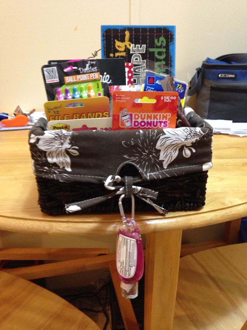 Gift basket i made for my cooperating teacher on my last