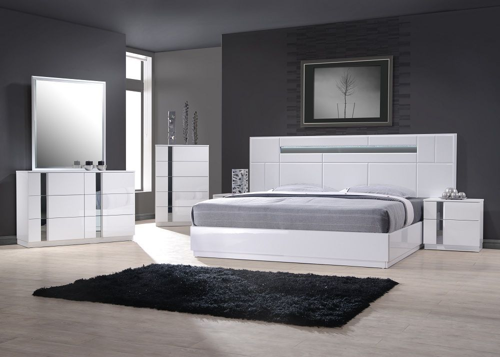 Exclusive Wood Contemporary Modern Bedroom Sets Two of the