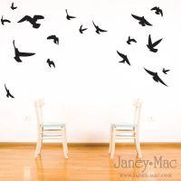 Bird Wall Decal - Flying Birds Vinyl Wall Art Room Decor ...