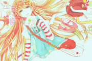 anime girl with orange hair