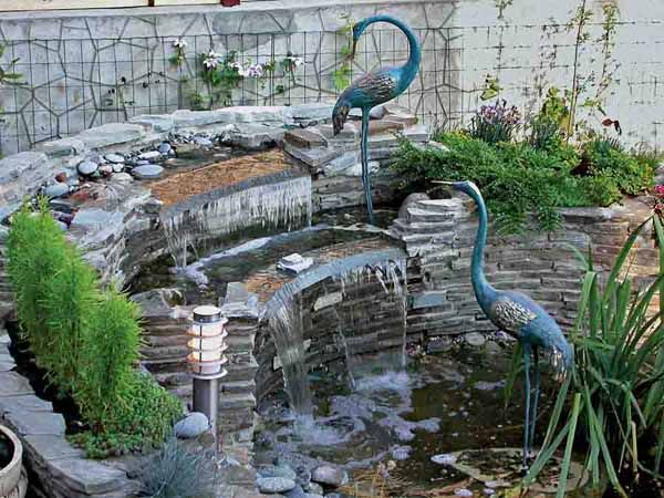 Water Fountains Front Yard And Backyard Designs Gardens Stones