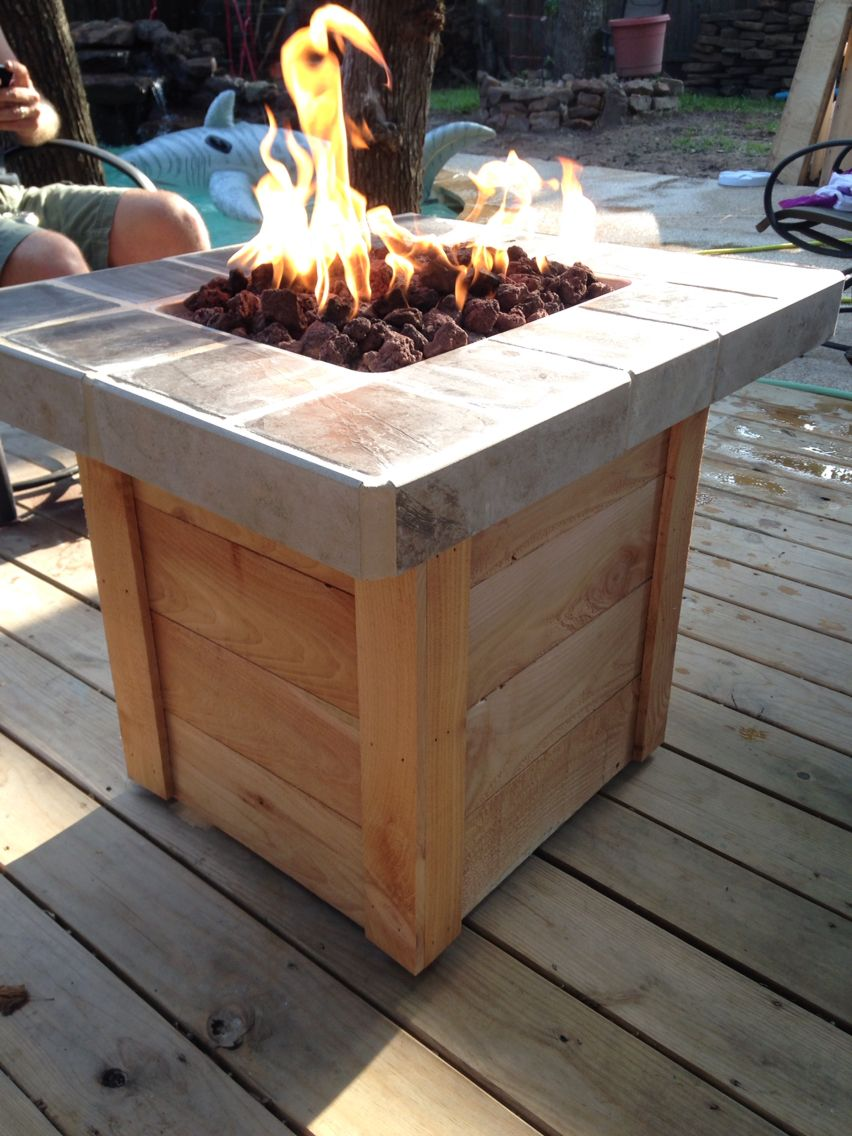 DIY Propane Fire Pit  My Weekend Projects  Pinterest  Diy propane fire pit Backyard and Decking