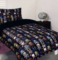 Glow-In-The-Dark Skull Bedding | To do/want/make ...