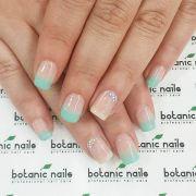 french nail art ideas blue