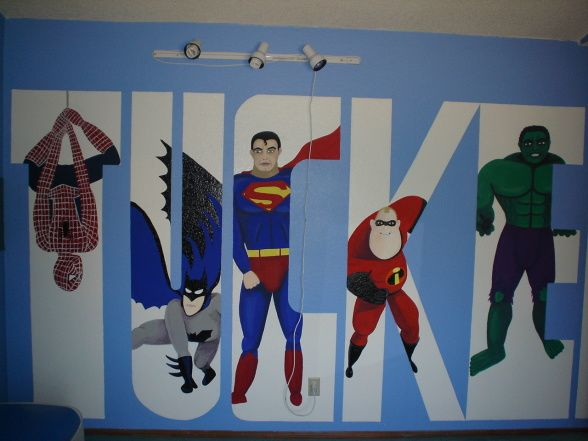 superheroroomideas  Boys Super Fun Superhero Room