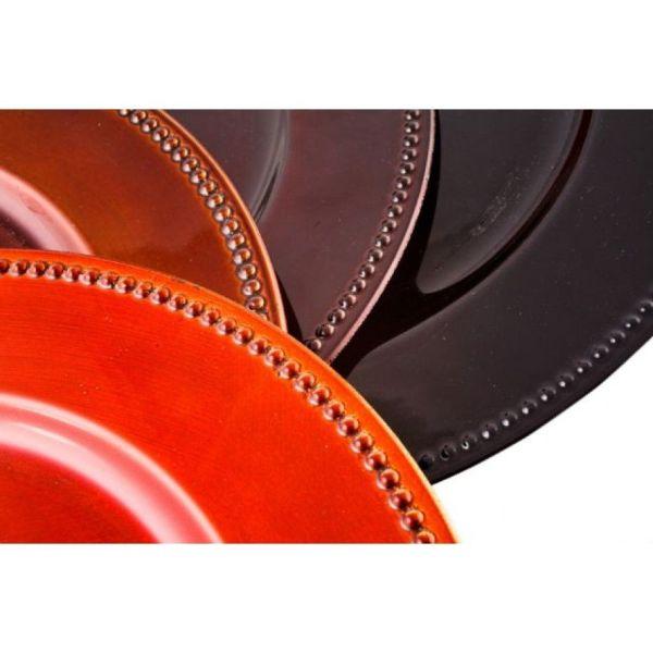 Espresso Brown Charger Plates Bulk 24 402096