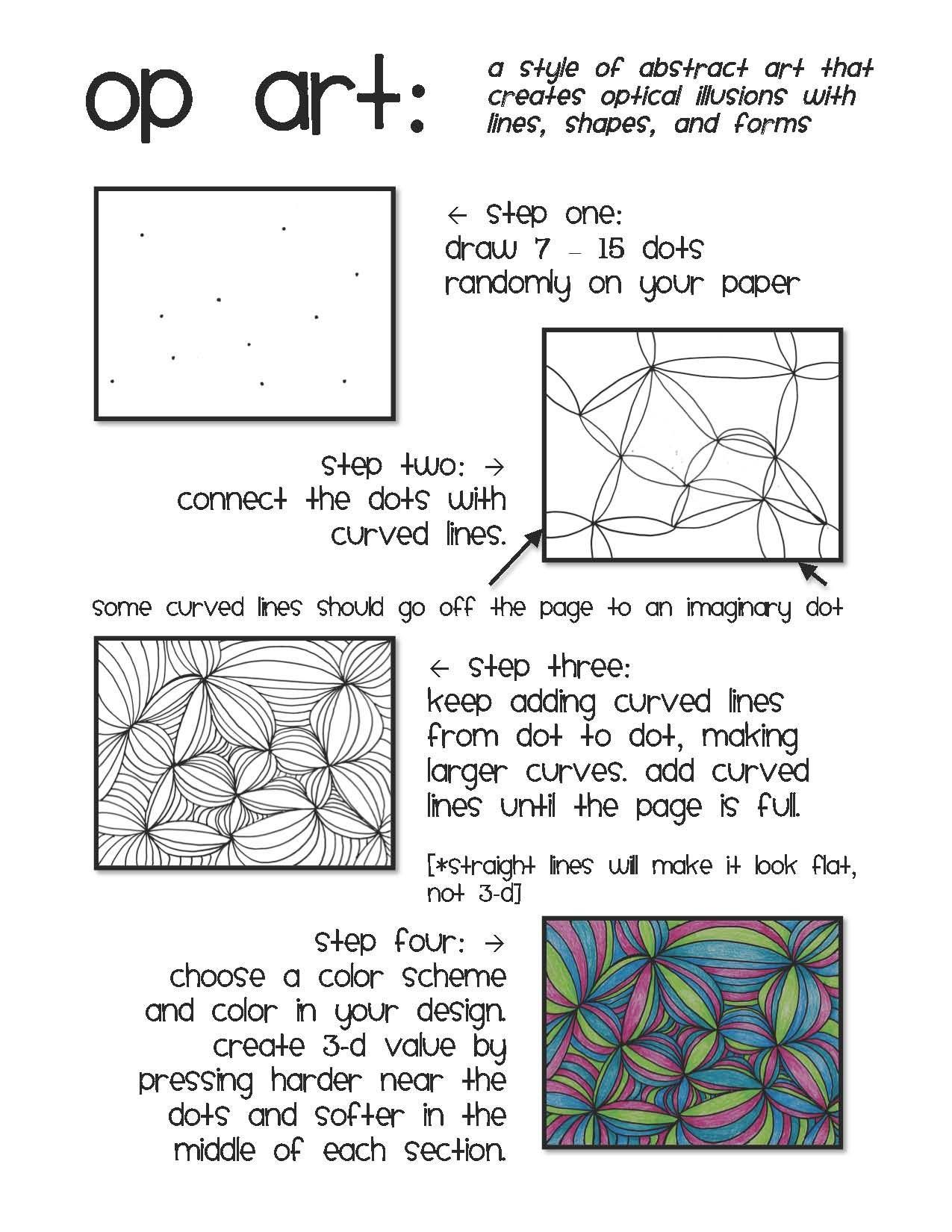 Images About Art Lesson Ideas Op Art