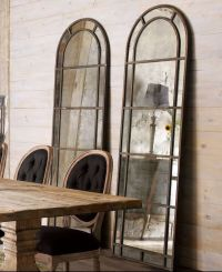 "New 83"" Rustic Horchow Neimans Antiqued Glass Leaner ..."