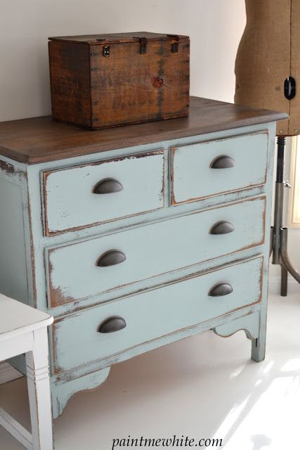 Redoing old dressers and this might be the winning look