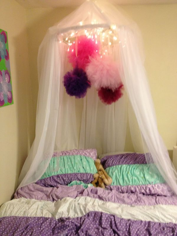 Diy Canopy- Super Easy- Hula Hoop And Cheap Curtains With Little Tulle Loves Add