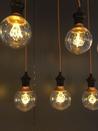 Love these IKEA LED retro copper colour globe bulbs ...