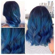 vibrant blue ombr joico