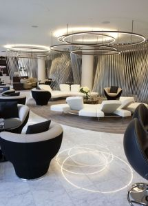 Hotel In London Lobby Interior With Circular