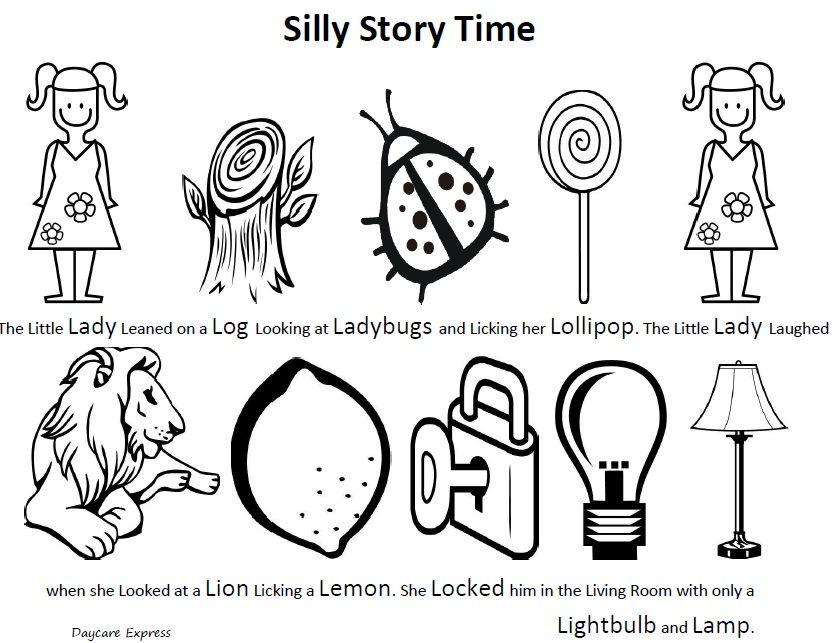 Letter L Silly Story, Week 2, Preschool http://www