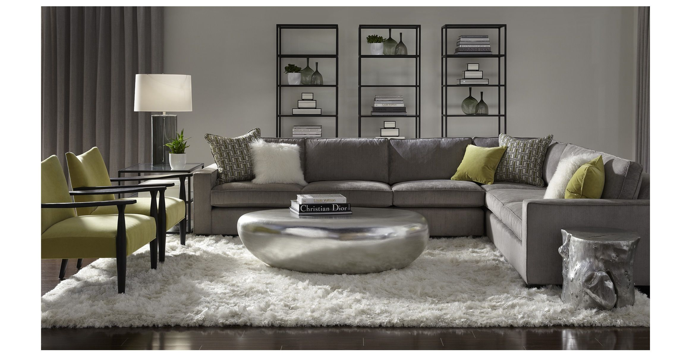mitchell gold sectional sofa london rattan corner set grey 43 bob williams carson slate gray