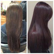 eggplant hair hairstyles