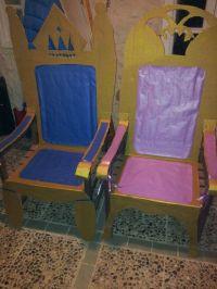 Cardboard thrones birthday party.   DIY throne chairs ...