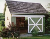 Use sliding barn doors for storage shed   Yard ideas ...