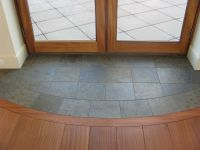 Slate entryway to protect hardwood floors at French Door ...