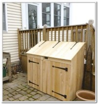 Outdoor Trash Can Storage Cabinet | outdoor | Pinterest ...