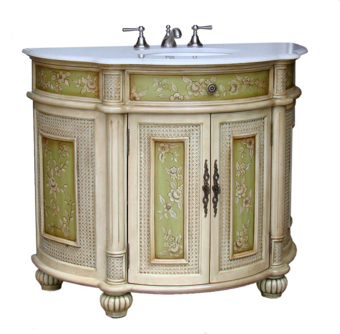 Painted Bathroom Vanity Adelina 48 Inch Antique Hand Painted Bathroom Vanity