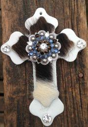hair- leather saddle cross