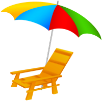 Beach Umbrella and Chair PNG Clip Art | Beach | Pinterest ...