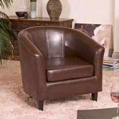 Tub Chair Brown Leather Xbox Gamer Kensington Extension Furniture Pinterest