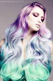 bubble goth purple blue mint ombre