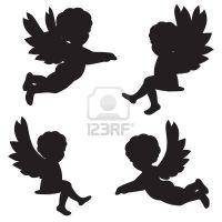 Angel Silhouette Tattoo Designs | Christmas Angel ...