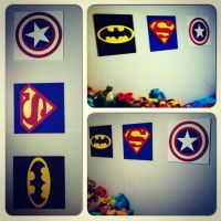 DIY superhero wall art Made from MDF cut out and painted ...