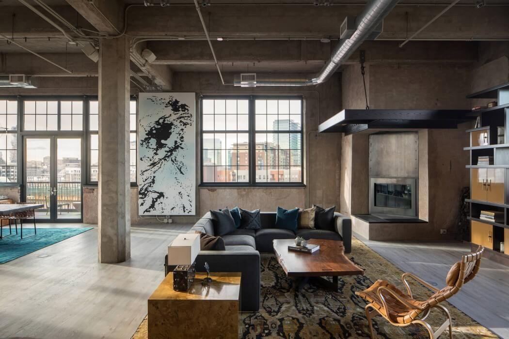 Industrial Loft by Studio Gild  Interior  Pinterest  Industrial loft Lofts and Industrial