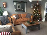 Grey lounge tan leather sofas | Home ideas | Pinterest ...