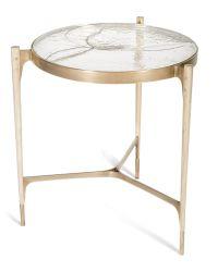 Stites Side Table MidCentury Modern, Rustic Folk, Glass ...