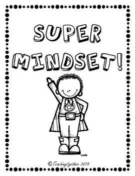 Kid superhero themed growth mindset posters.Black and