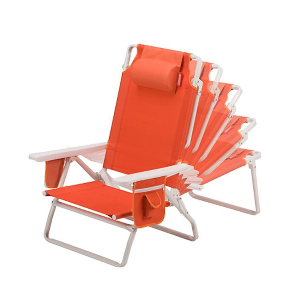 Coleman  Beach Chair Recliner  Orange  Camping