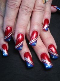 patriotic nail designs | Nail Art  Patriotic / The Red ...