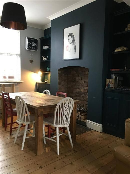 living room color schemes with navy blue trendy farrow & ball: hague dining   + palette ...