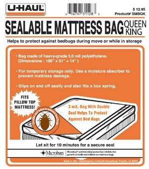 Sealable Mattress Bag To Protect Against Dirt Debris And Bedbugs During Moving Or Storage