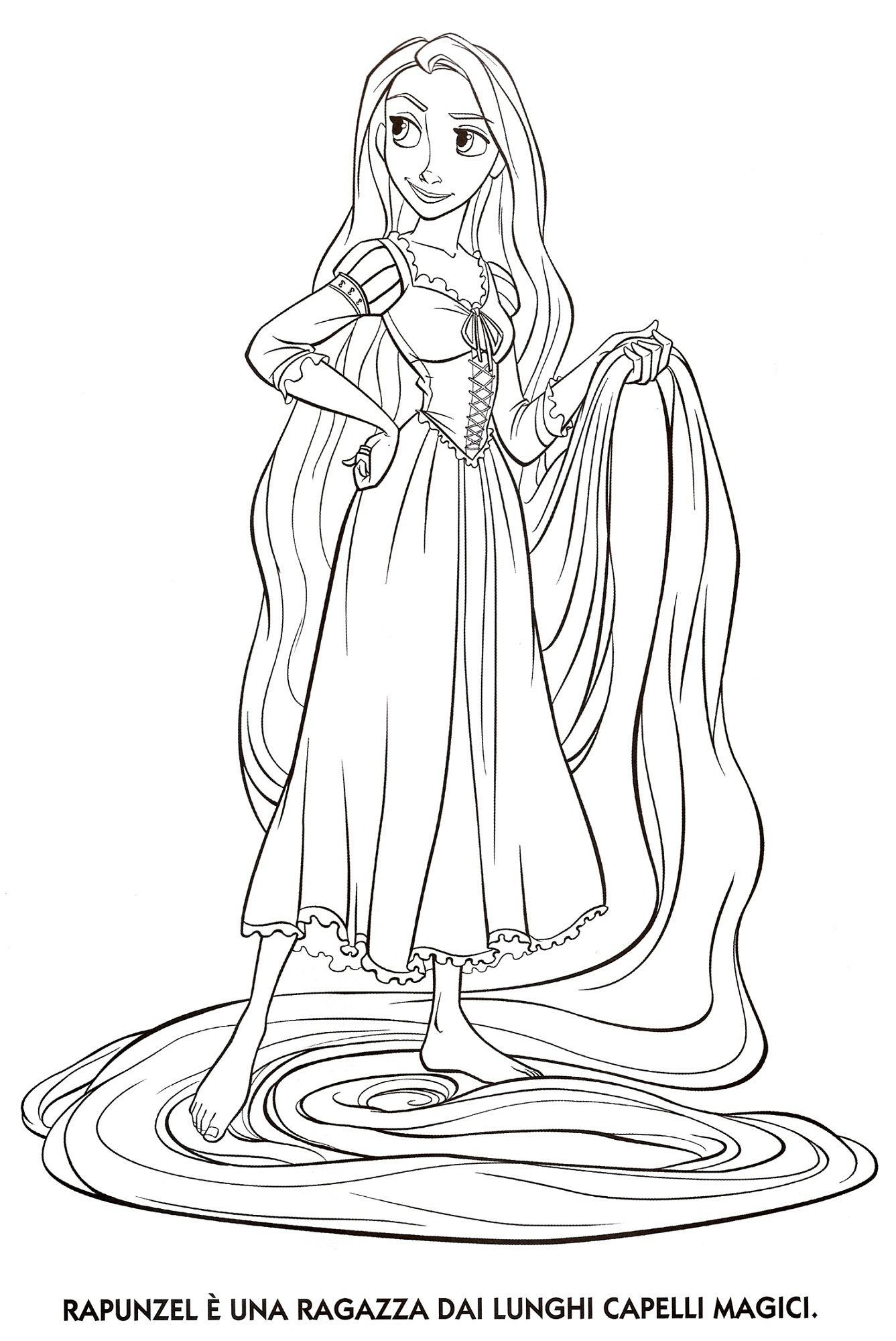 Tangled Coloring Pages Printable Rapunzel Activity Shelter
