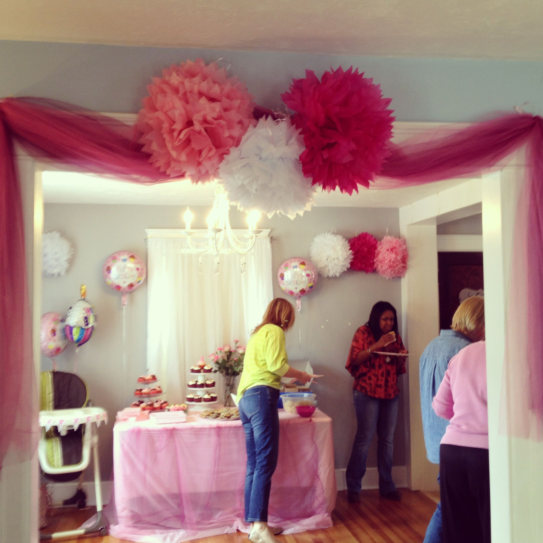 Bridgette's 1st birthday party decorations. Pink. Tutu