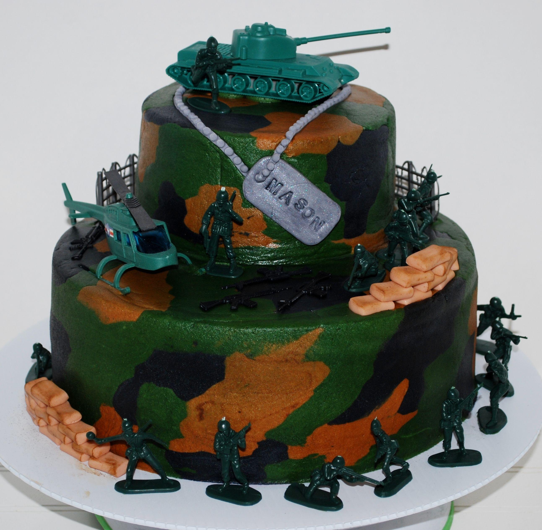 Boy Army Birthday Cake